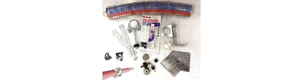 Accessoires produits pour échappement et flexible alimentaire