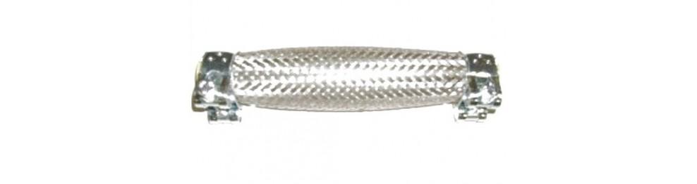 Flexible inox à colliers avec embouts intégrés