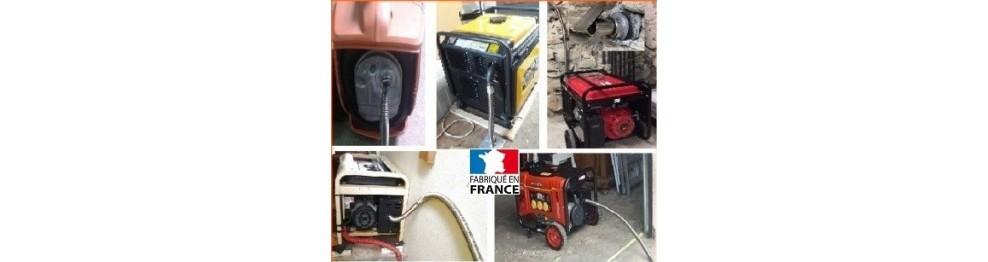 Flexible inox sans tresse pour groupe électrogène, Webasto, pompe....