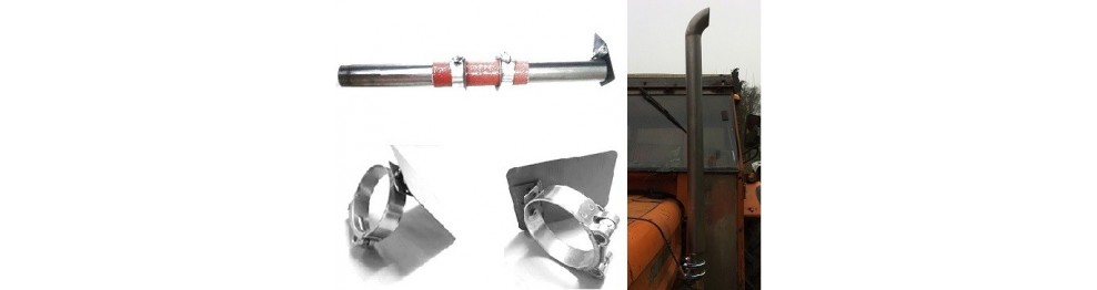 Sortie d'échappement verticale inox ou acier